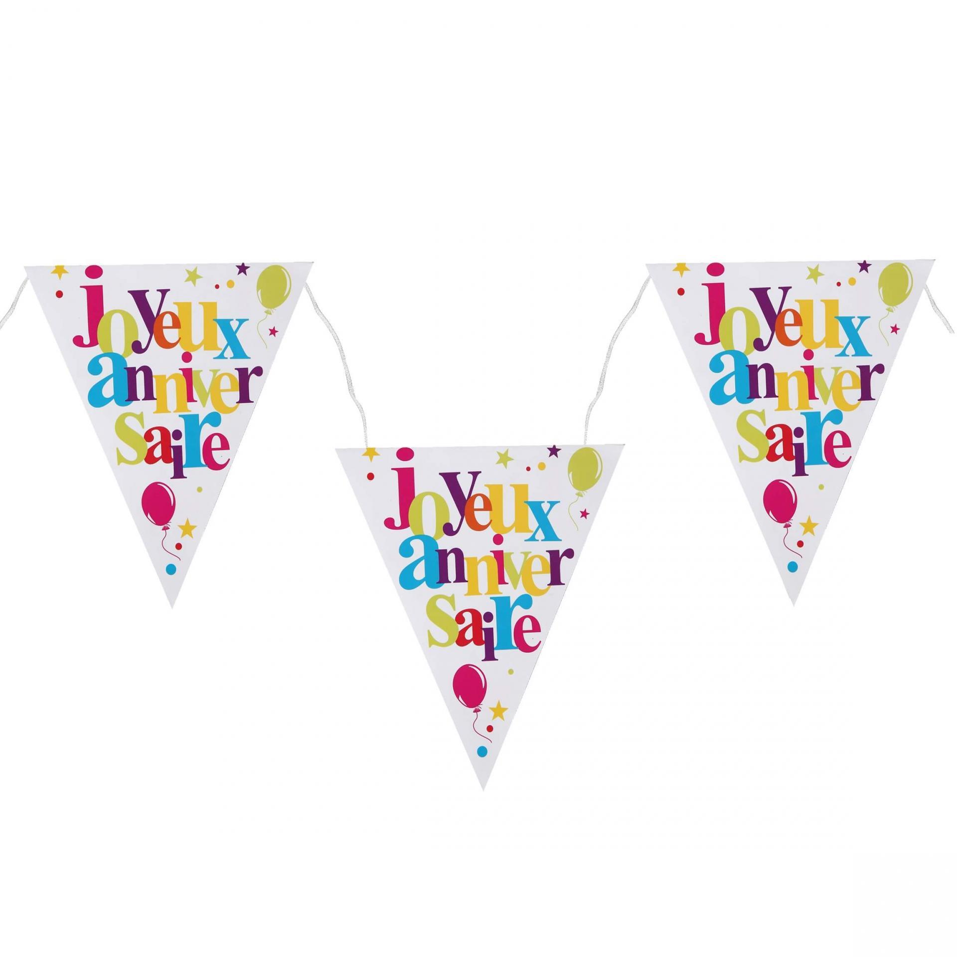 Guirlande fanion joyeux anniversaire multicolore
