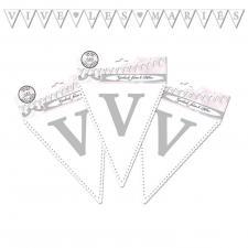 Guirlande fanion mariage: Vive les mariés (x1) REF/GFM00