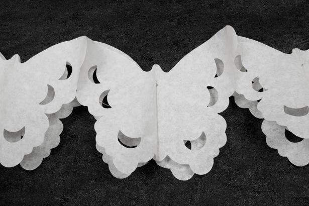 Guirlande papillon blanc
