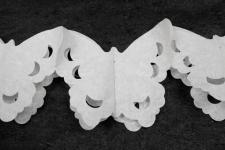 Guirlande blanche papillon (x1) REF/GUI057