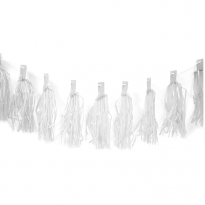 Guirlande blanche 20 pompons (x1) REF/GUI077