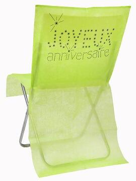 Housse de chaise anniversaire vert