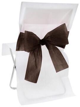 Housse de chaise bicolore noire (x10) REF/4067