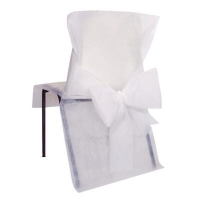 Housse de chaise avec noeud: Blanc (x10) REF/2931