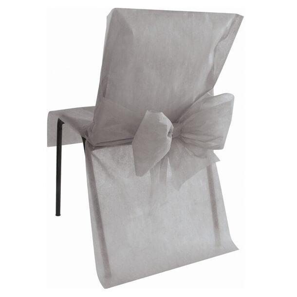 Housse de chaise mariage grise