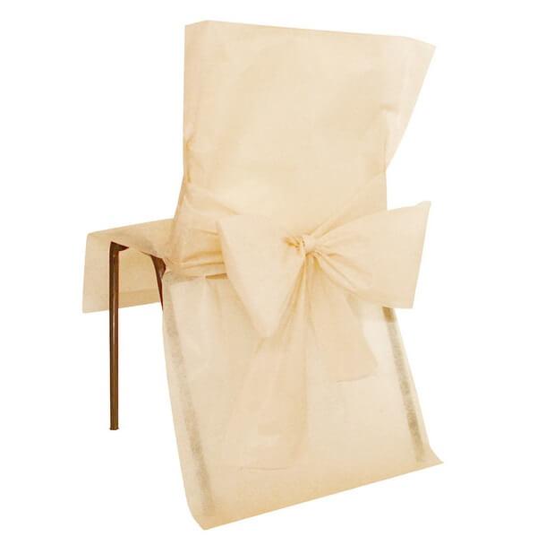 Housse de chaise mariage ivoire