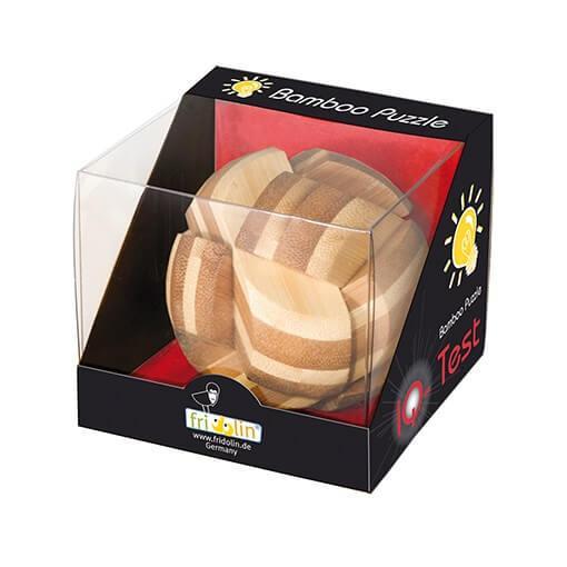Jeu casse tete fridolin bambou sphere en bois