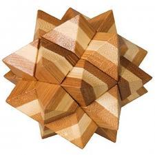 Jeu casse-tête Fridolin Bambou étoile en bois (x1) REF/FDBET