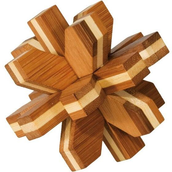 Jeu casse tetes fridolin bois de bambou cristal