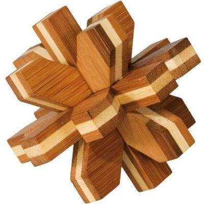 Jeu casse-tête Fridolin Bambou Cristal en bois (x1) REF/FDBCI