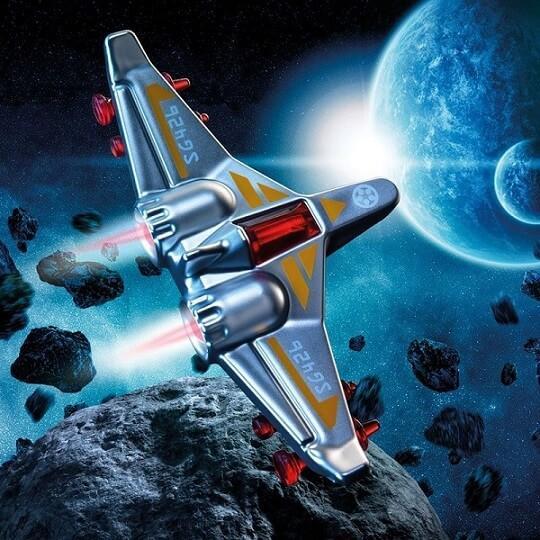 Jeu compact de reflexion pour enfants alerte asteroides