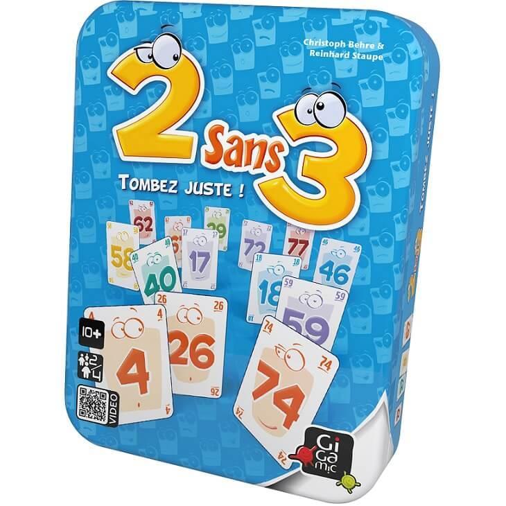 Jeu de cartes 2 sans 3