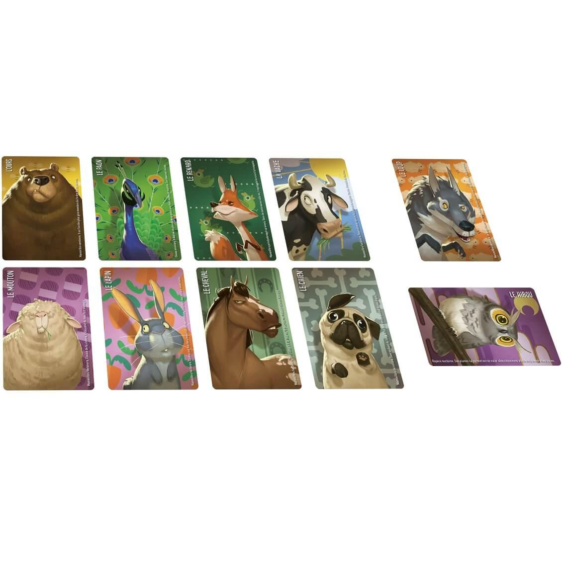 Jeu de societe ambiance avec cartes similo animaux