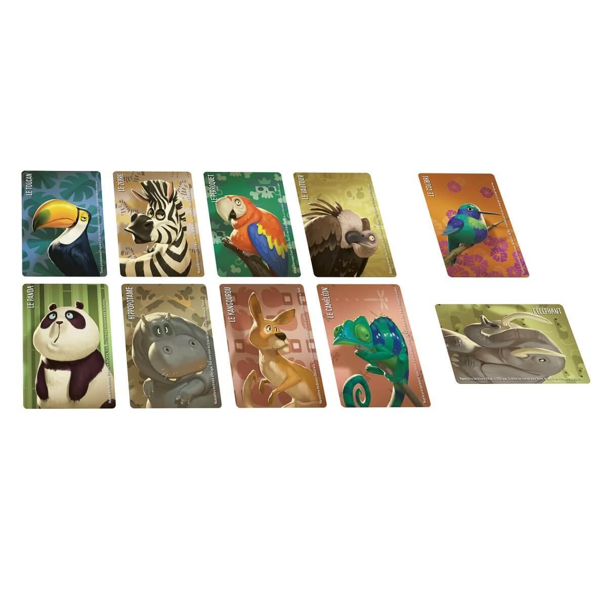 Jeu de societe cartes similo animaux sauvages