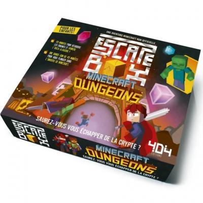 Jeu de société Escape Box: Minecraft Dungeons (x1) REF/404ED0435