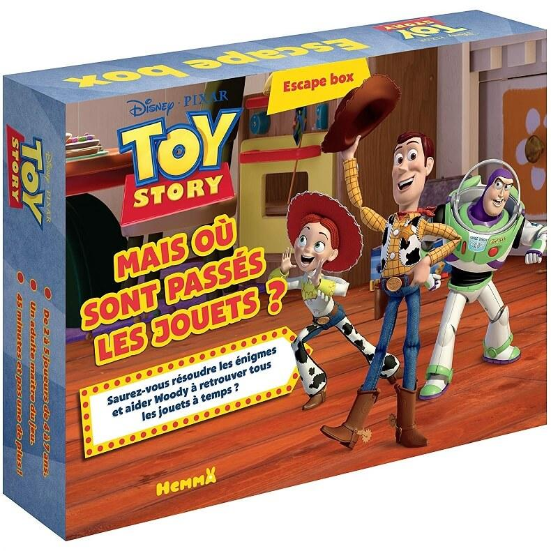 Jeu de societe toy stori disney escape box
