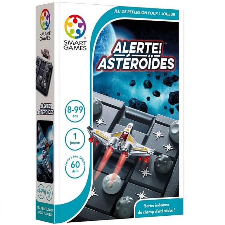 Jeu educatif compact de reflexion pour enfants alerte asteroides