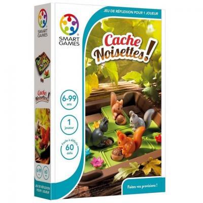 Jeu éducatif compact de réflexion pour enfants: Cache noisettes ! (x1) REF/SG 425 FR