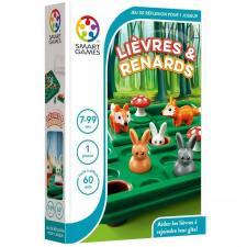 Jeu éducatif compact de réflexion pour enfants: Lièvres et Renards (x1) REF/SG 421 FR