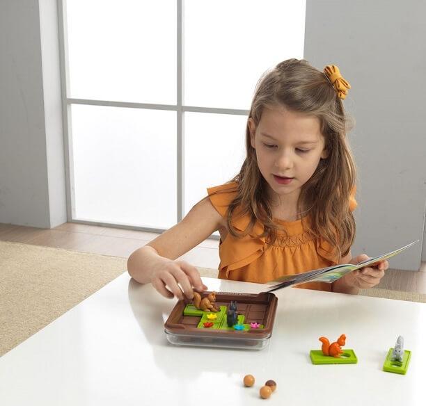 Jeu et jouet educatif de reflexion cache noisette ecureuil