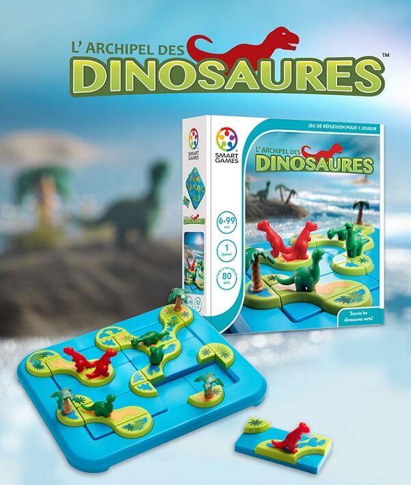 Jeu pour enfants archipel des dinosaures