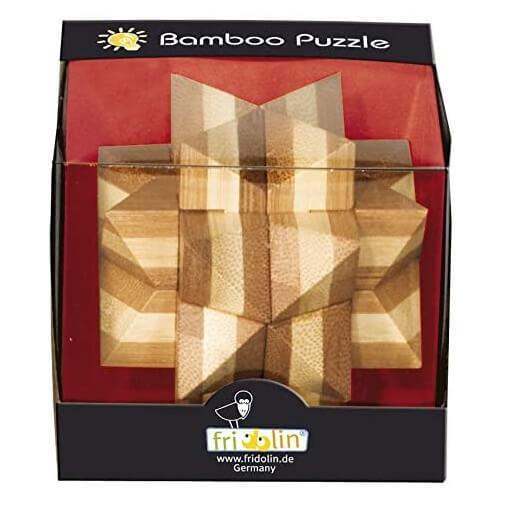 Jeux casse tete etoile fridolin en bois de bambou