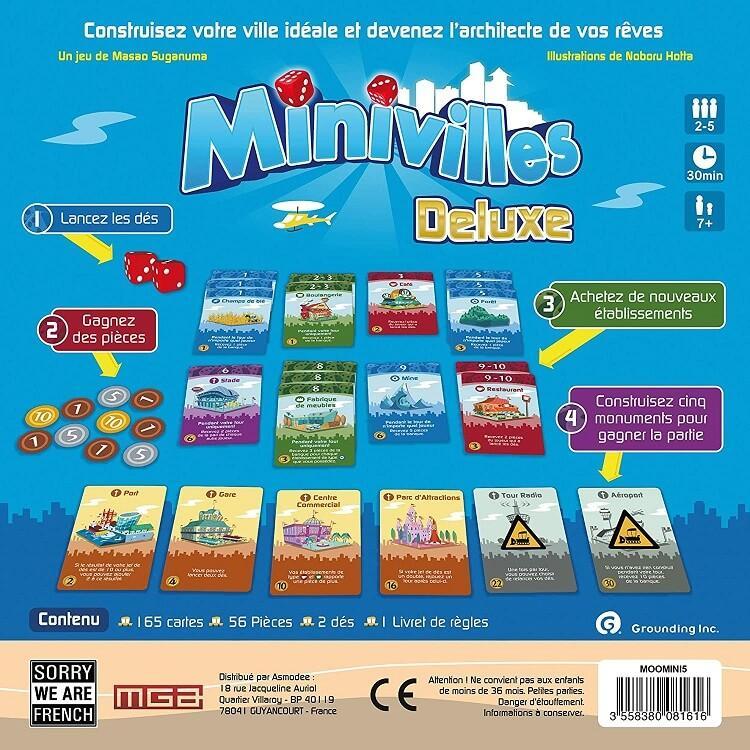 Jeux de societe avec cartes minivilles deluxe