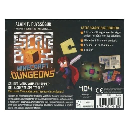 Jeux de societe minecraft dungeons