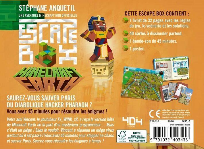 Jeux de societe minecraft earth escape game