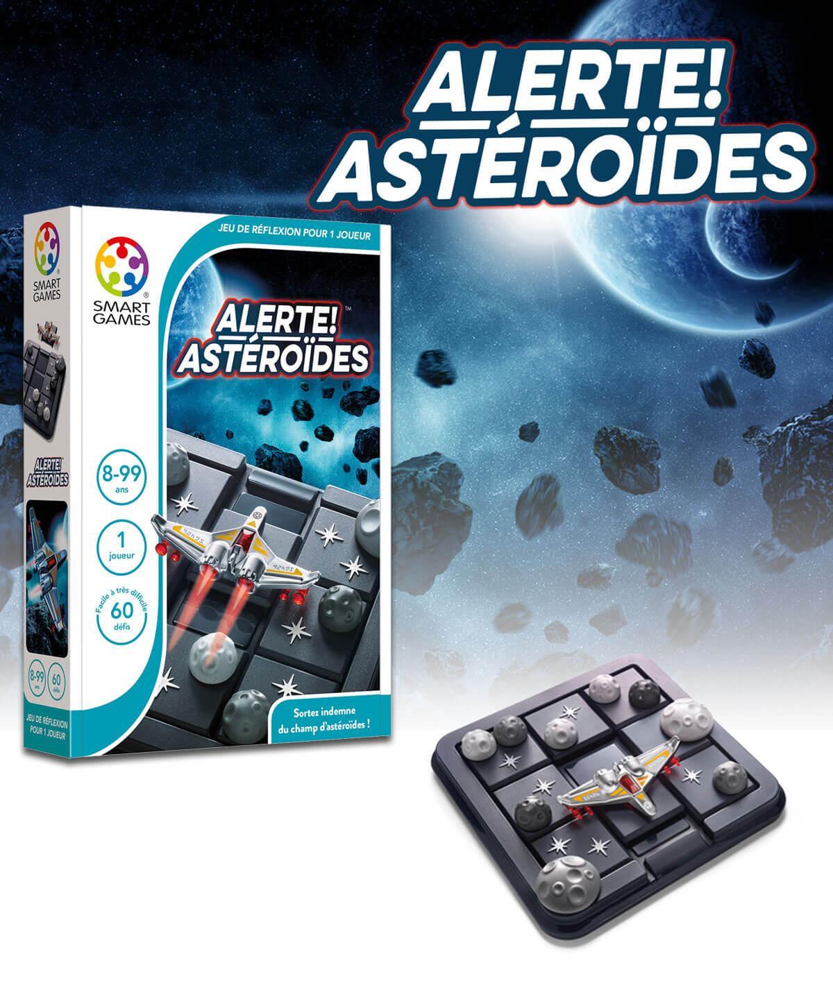 Jeux educatif compact de reflexion pour enfants alerte asteroides