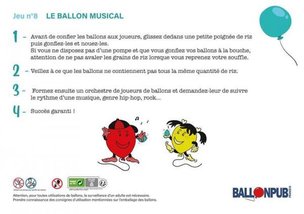 Jeux marrant pour enfants avec des ballons