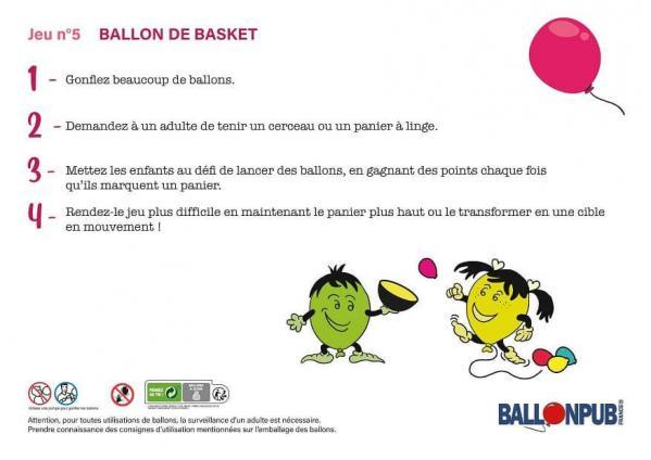 Jeux originaux pour enfant avec des ballons