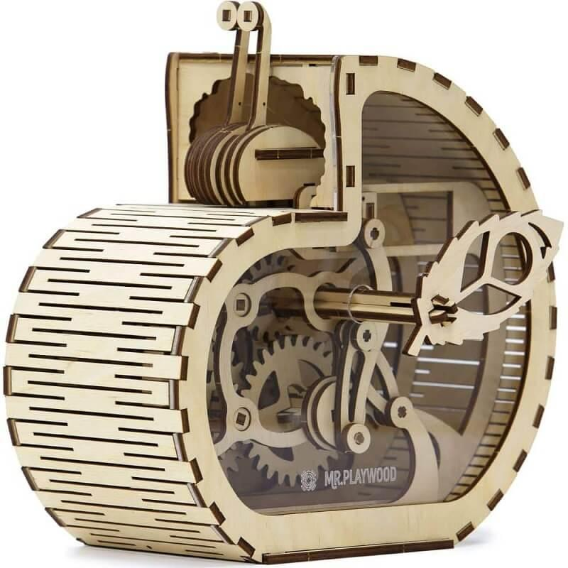 Jeux puzzle 3d en bois mr playwood tirelire escargot
