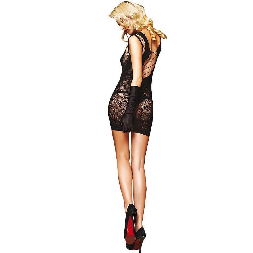 Jolie robe noir en dentelle pour femme