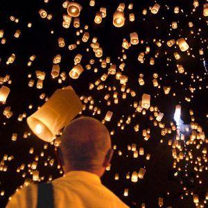 Lampe a voeux lanterne volante
