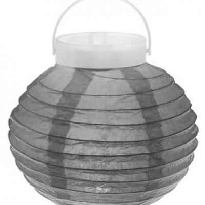 Lampion lumineux, 20cm: Gris (x1) REF/5063