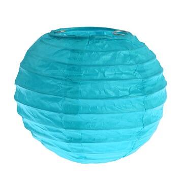 Lanterne bleu turquoise xs 7 5cm