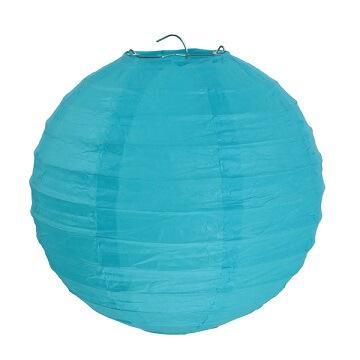 Lanterne bleu turquoise 20cm (x2) REF/4312