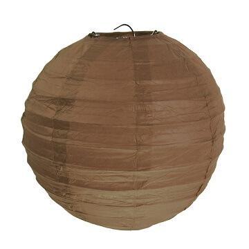 Lanterne chocolat 20cm (x2) REF/4312