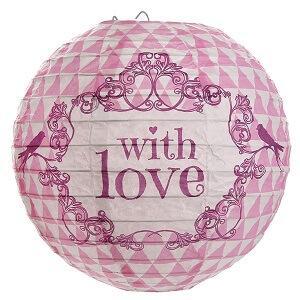 Lanterne mariage vintage rose with love (x2) REF/4816
