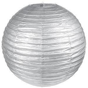 Lanterne métallisée argent XL, 50cm (x1) REF/4333