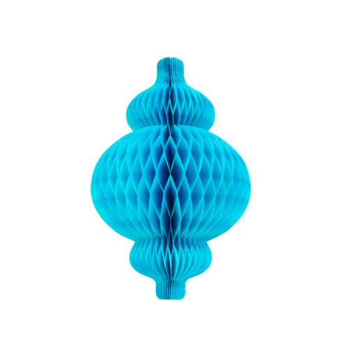 Lanterne nid d abeille bleu turquoise