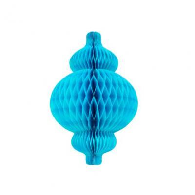 Lanterne nid d'abeille bleu turquoise (x1) REF/GUI064