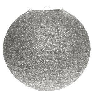 Lanterne pailletee argent 20cm