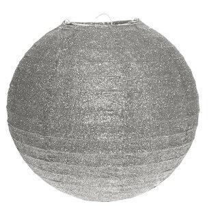 Lanterne pailletée argent, 20cm (x1) REF/5320