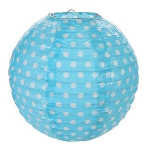 Lanterne pois bleu turquoise