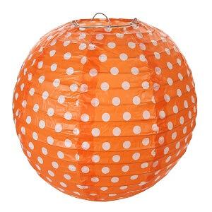 Lanterne pois orange