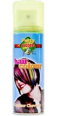 Aérosol laque cheveux jaune fluo, 125ml (x1) REF/72091