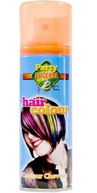 Laque cheveux orange fluo