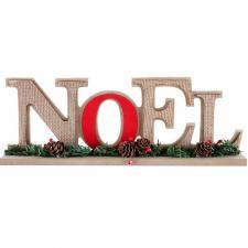 Lettre en bois décorative pour table de Noël (x1) REF/7088